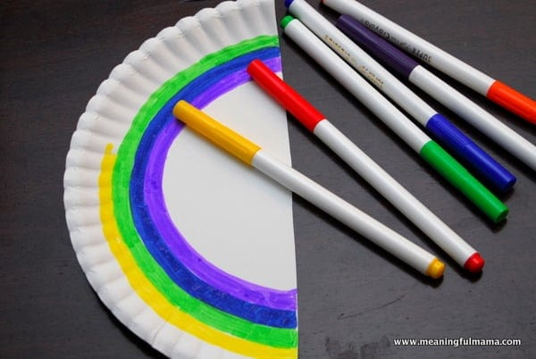 1-#rainbow paper plate craft #cubbies bear hug #8 #awana-001