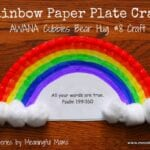 Rainbow Paper Plate Craft – AWANA Cubbies Bear Hug #8
