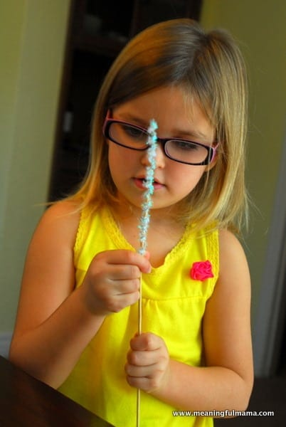 1-#snowflake craft #pipe cleaners #pom poms #kids-021