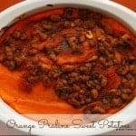 Orange Praline Sweet Potatoes