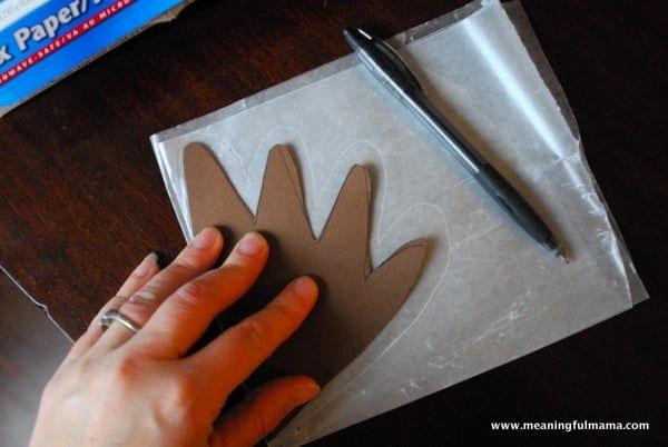 1-#thanksgiving turkey #craft #footprint #craft for kids-013