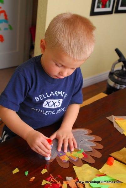 1-#thanksgiving turkey #craft #footprint #craft for kids-023