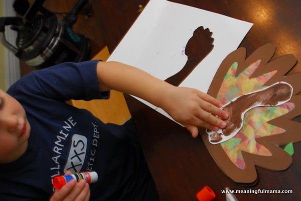 1-#thanksgiving turkey #craft #footprint #craft for kids-027