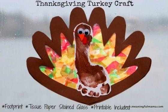 footprint turkey craft