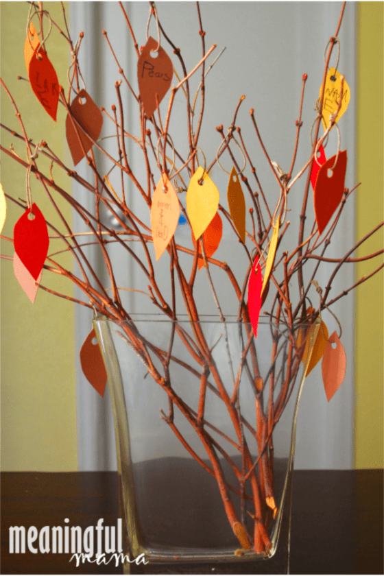 Thanksgiving thankfulness tree