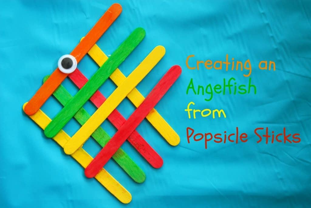 #angel fish #popsicle stick #craft-007