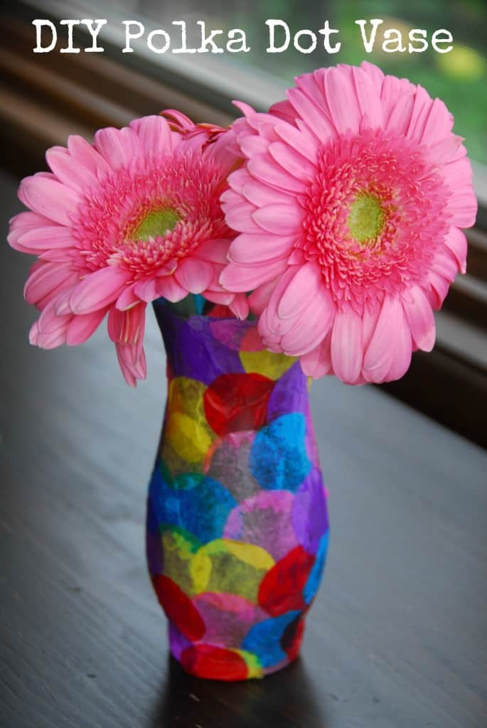 #polka dot vase #craft #kids-031