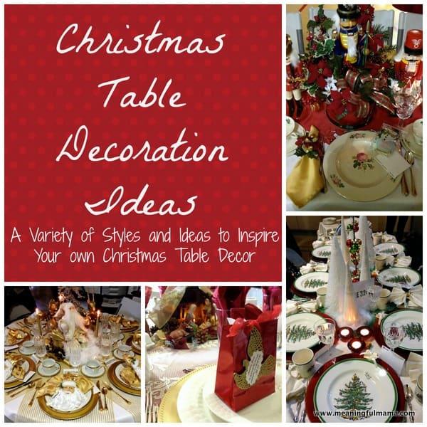 1-#christmas #table #decoration #ideas