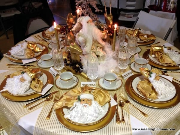 Gold Christmas Table Centerpieces