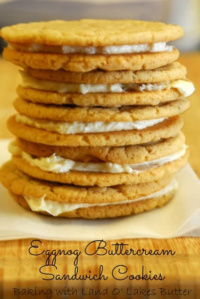 eggnog buttercream sandwich cookies