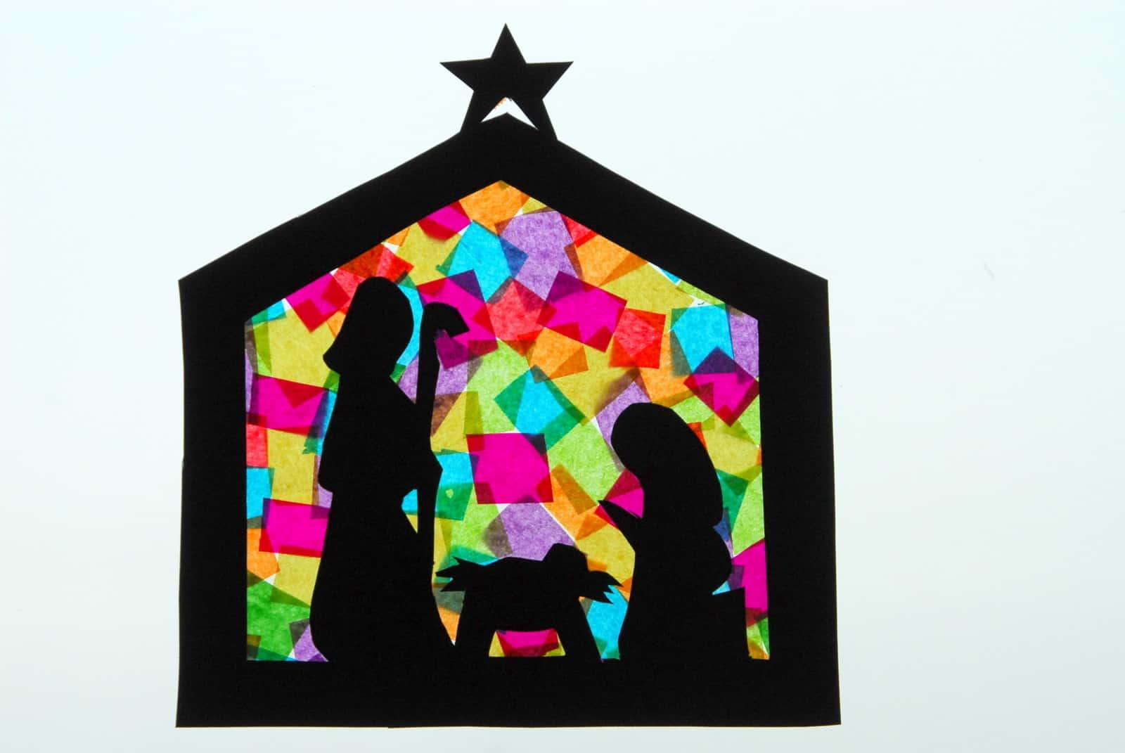1 nativitycraft nativty stainedglass christmas craft. Black Bedroom Furniture Sets. Home Design Ideas