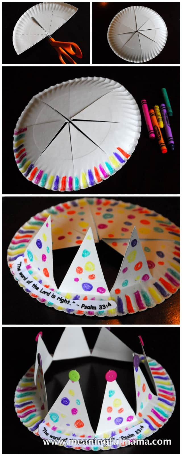 Paper plate crown for Paper plate crafts for adults