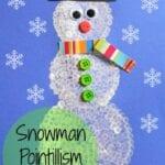 Pointillism Snowman Craft