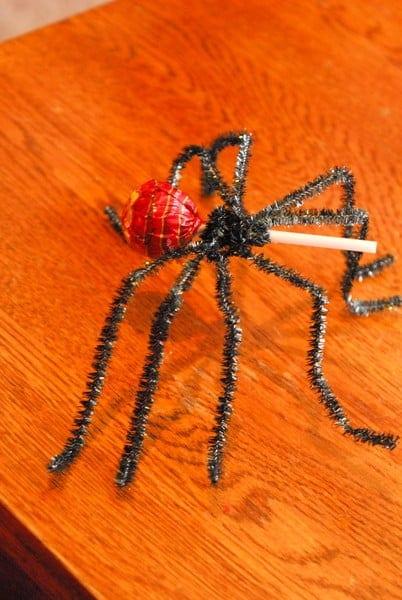 1-#spider lollipop #tutorial #superhero food #spiderman party-005