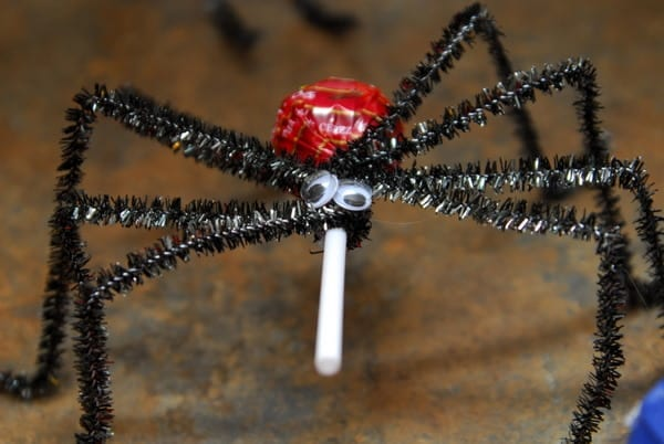 1-#spider lollipop #tutorial #superhero food #spiderman party-009
