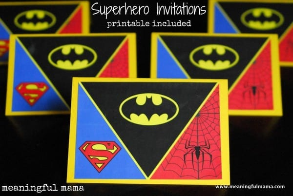 Superhero Invitations  Printable Included  Meaningfulmama.com