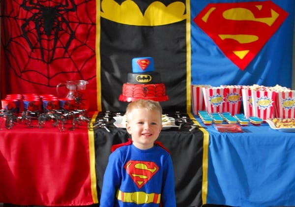 1-#superhero birthday party #ideas #3 year old-067