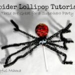 Spider Lollipop Tutorial