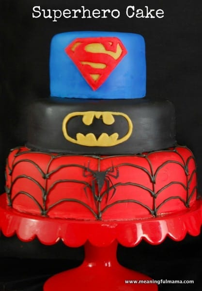 1-#superhero cake #batman #spiderman #superman tutorial-001