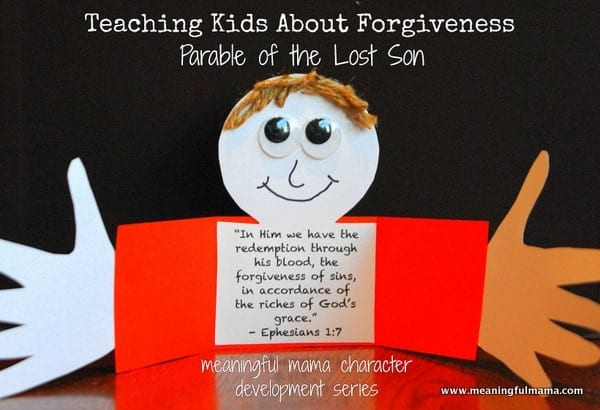 1 Teaching Kids Forgiveness Parable Of The Lost Son Craft Prodigal