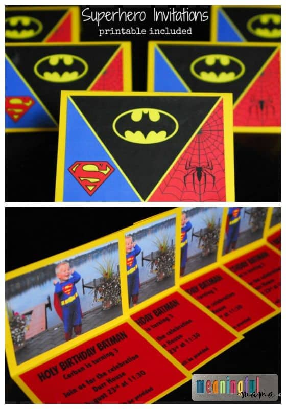 Superhero Invitations - Free Printable Included