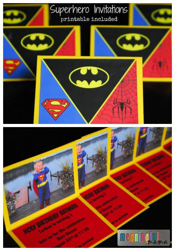 Superhero Invitations - Printable Included