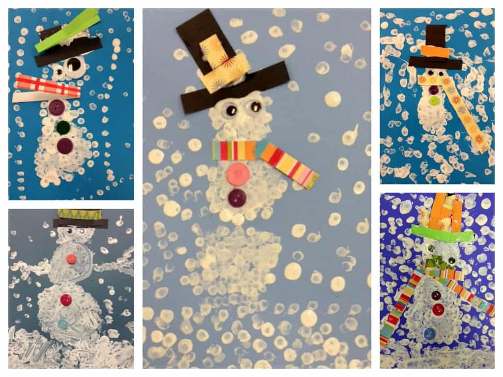pointillism snowman craft #snowman craft kids