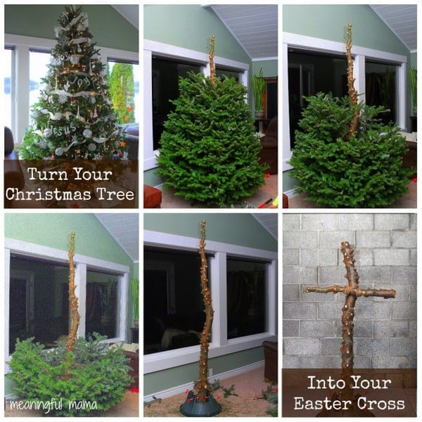 1-#christmastree #easter cross how to turn Christmas tree into Easter cross-001