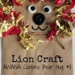 Lion Puppet Craft – AWANA Cubbies Bear Hug #11