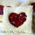 Peanut Butter and Jelly Valentine Sandwiches