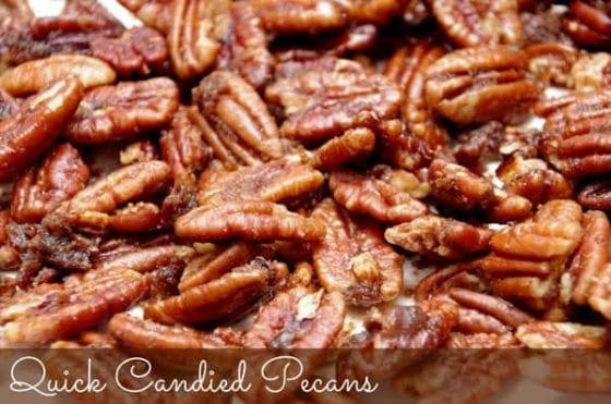bulk candied pecans close up