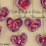 Salt Dough and Perler Bead Valentine Ornaments