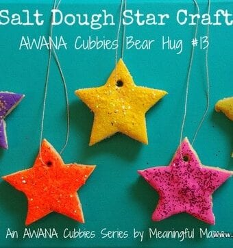 Salt Dough Star Craft – AWANA Cubbies Bear Hug #13