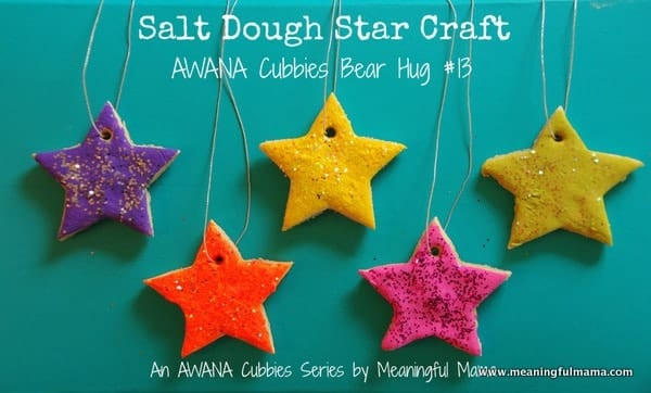 1-#saltdough star craft ornament cubbies bear hug 13-025
