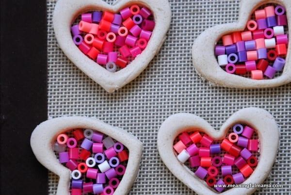 Salt Dough And Perler Bead Valentine Ornaments