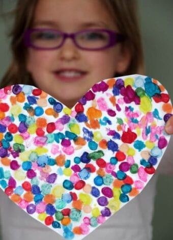Melted Crayon Dot Heart