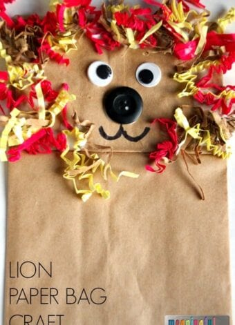 Lion Puppet Paper Bag Craft for Daniel and the Lion's Den