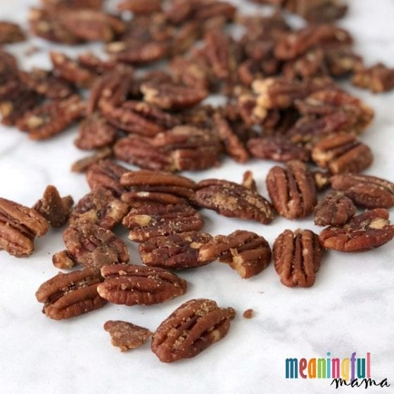 pecans on counter top
