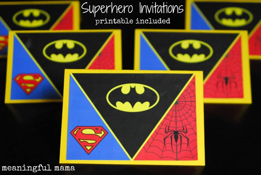 superhero birthday invitation free printable 005