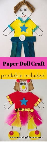 1-Paper Doll Craft