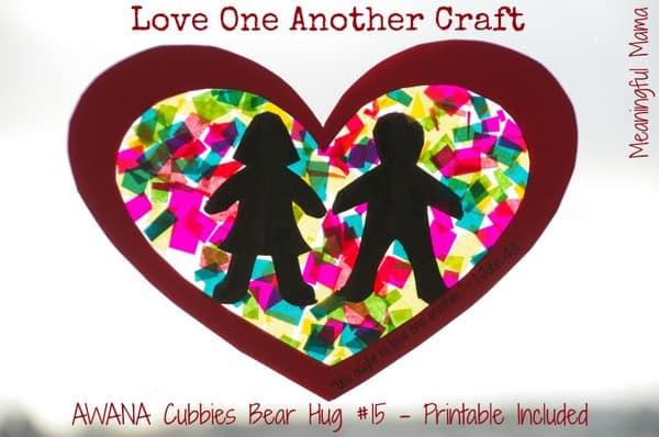 1-#love one another christian craft love your neighbor bear hug 15 cubbies Feb 12, 2014 10-039