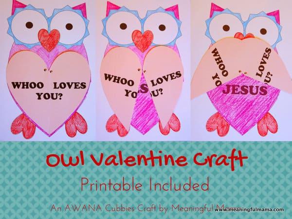 Owl Valentine with Printable