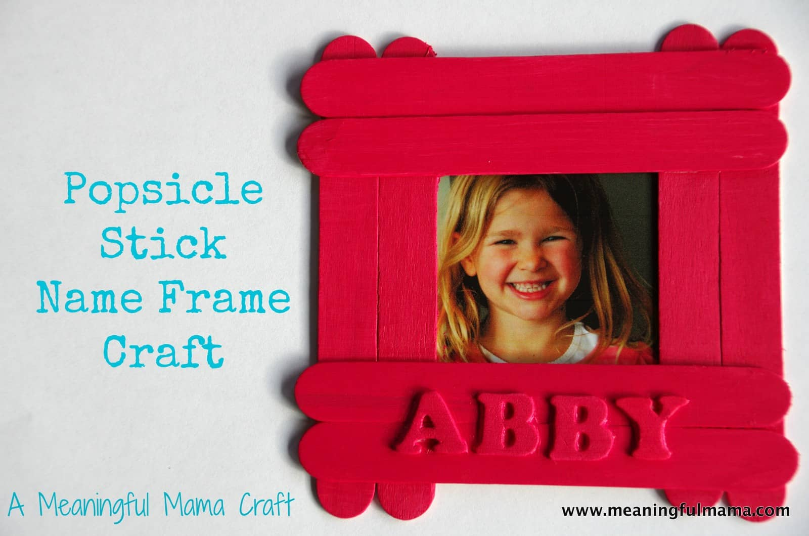 Popsicle stick name frame craft this popsicle stick name frame craft is easy to do and will be popular with your kids the other day we received a package from craft project ideas jeuxipadfo Gallery