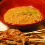 Pork Skewers and Peanut Sauce