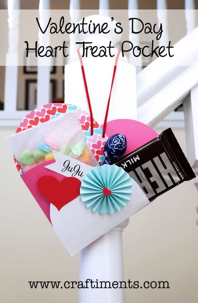Craftiments Valentines Day Heart Treat Pocket Template