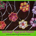 Salt Dough Flower Fingerprints