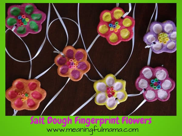 Spring Has Sprung And We Celebrated With A Craft These Salt Dough Flower Fingerprints Are Fun For Kids Of All Ages The Have Always Enjoyed