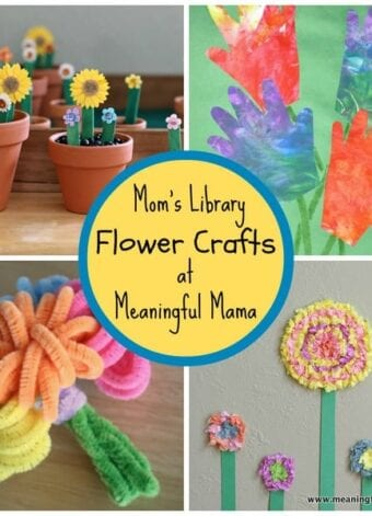 Flower Crafts at Mom's Library