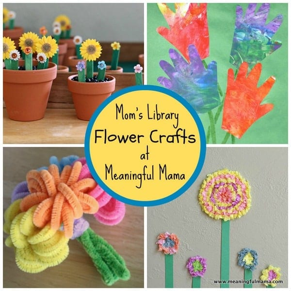1-flower crafts kids spring