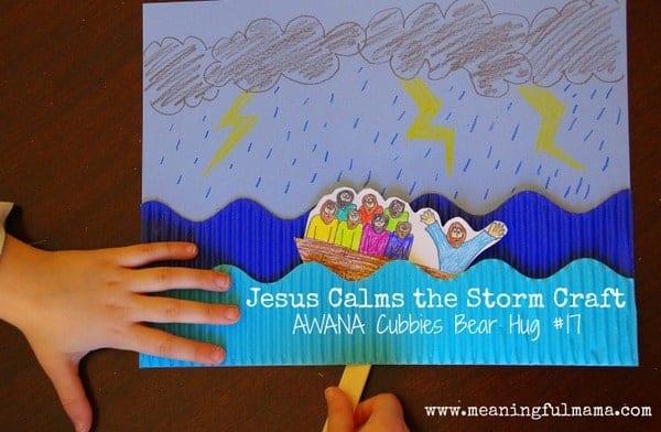 ME ABURRE LA RELIGIÓN: JESÚS CALMA LA TEMPESTAD. MANUALIDADES